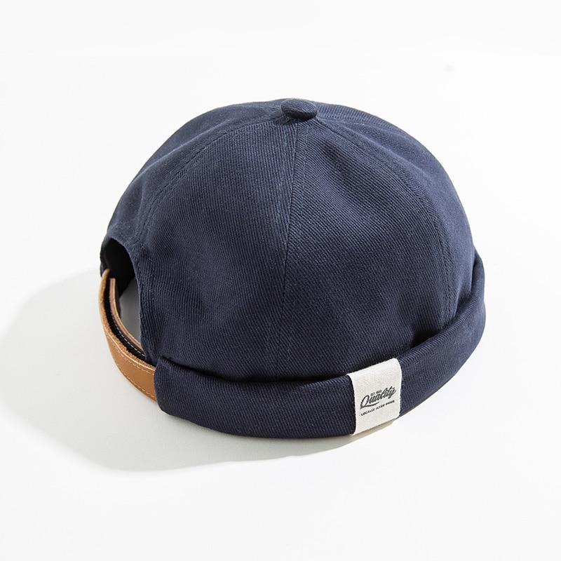 MADEN-hommes-femmes-r-glable-Denim-chapeau-sans-bride-cr-ne-chapeau-Docker-chapeau-roul-manchette