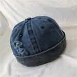 2019-nouveau-Denim-trou-marin-casquette-bonnet-Skullcap-r-tro-bleu-marine-Style-Beanie-chapeau-japonais