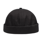 Unisexe-Docker-marin-Biker-casquette-Streetwear-citrouille-Vintage-marine-Brimless-bonnets-chapeau-Melon-marin-d-contract
