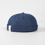 Skullcap-chapeau-sans-bride-femmes-hommes-Skullcap-casquette-de-marin-manchette-Vintage-bonnet-chapeau-solide-couleur