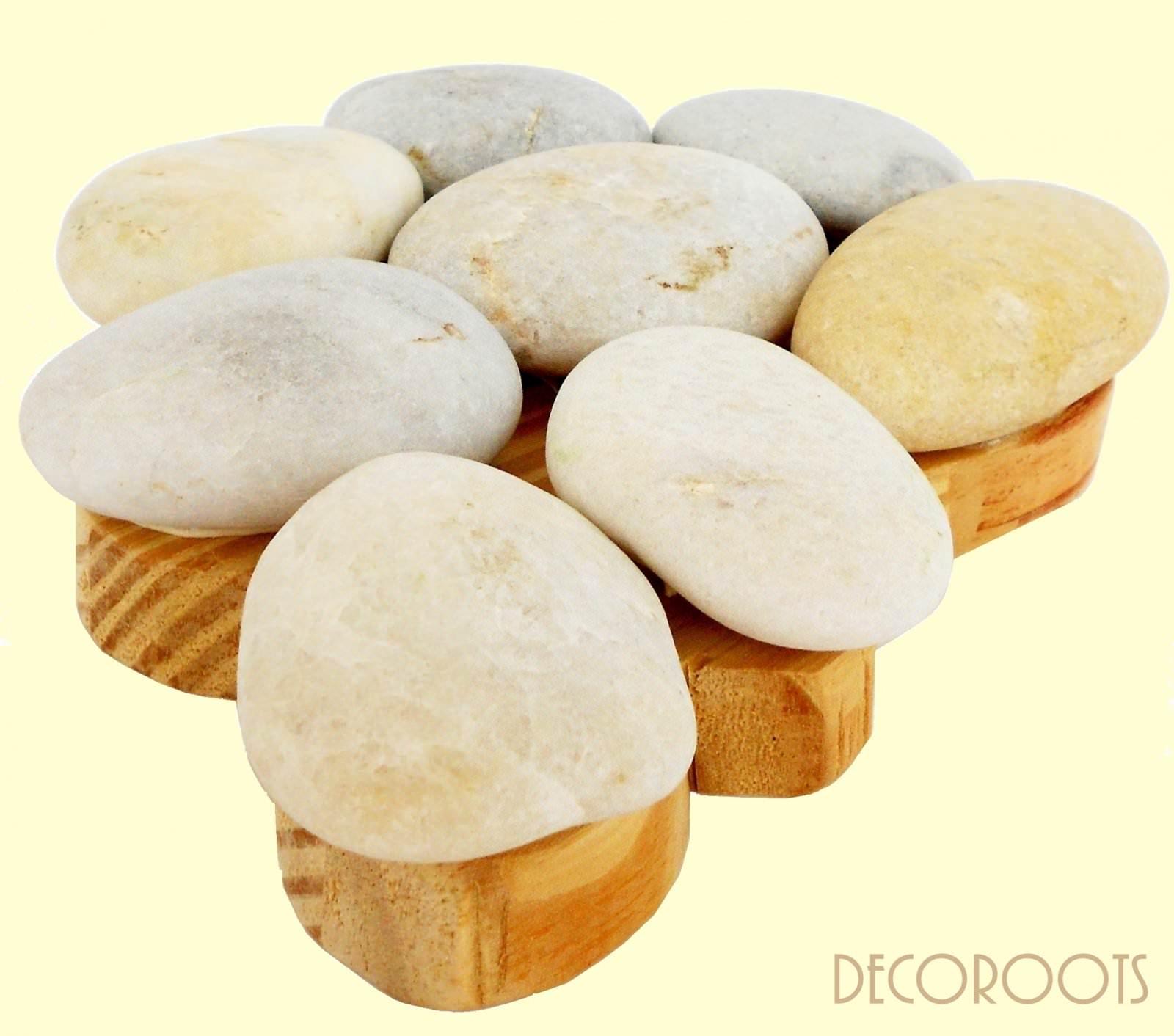 Dessous de plat galet stones d coration nature et zen objet d coratif nature et zen mady deco - Dessous de plat bois ...