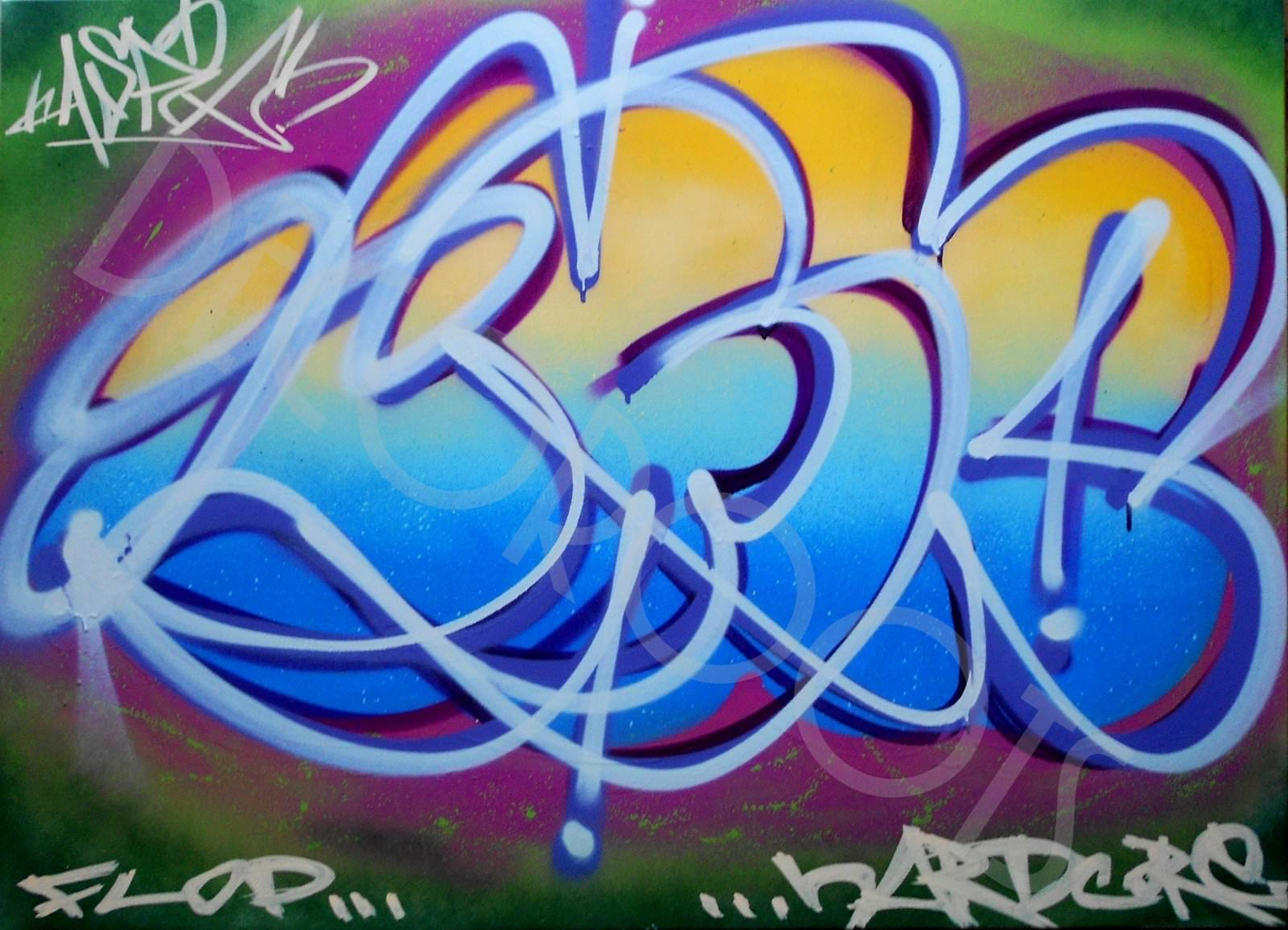 tableau design graffiti urbain new york