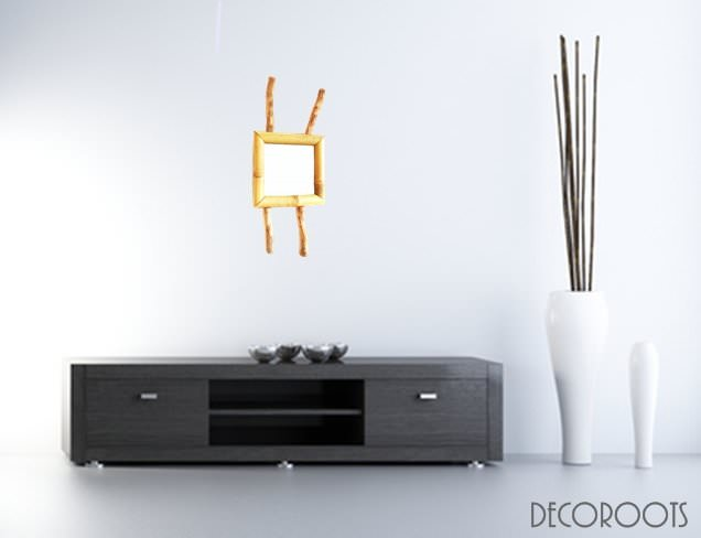 miroir nature zen en bambou nature et zen luminaire et