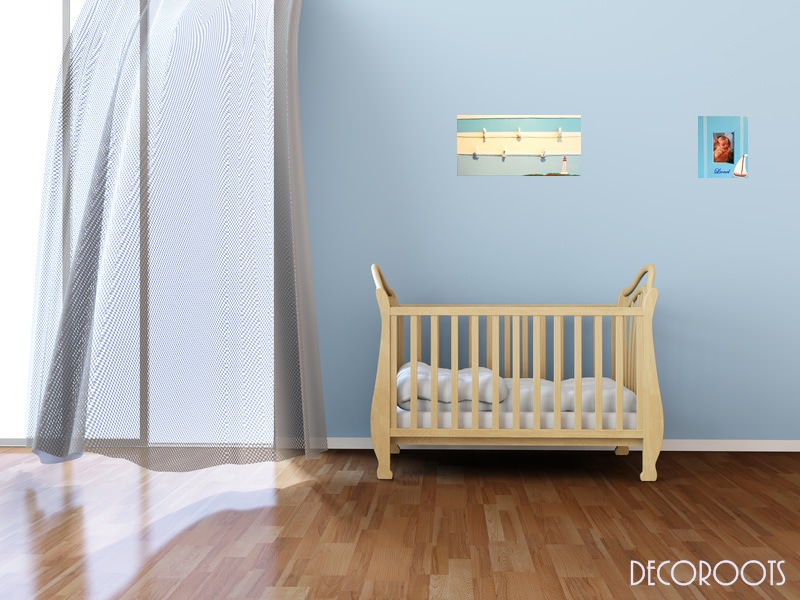 cadre photo enfant b b bateau voilier th me mer bleu personnalisable enfant b b objet. Black Bedroom Furniture Sets. Home Design Ideas
