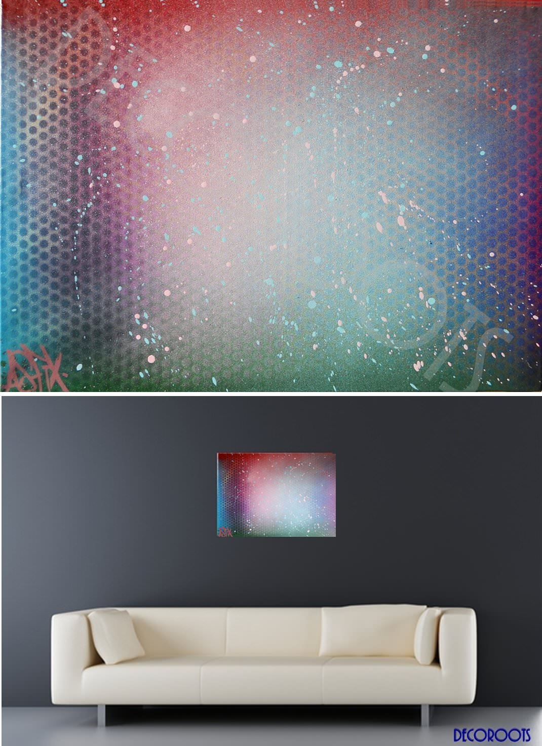 Tableau Déco Design Abstrait Cosmos Art Design Contemporain