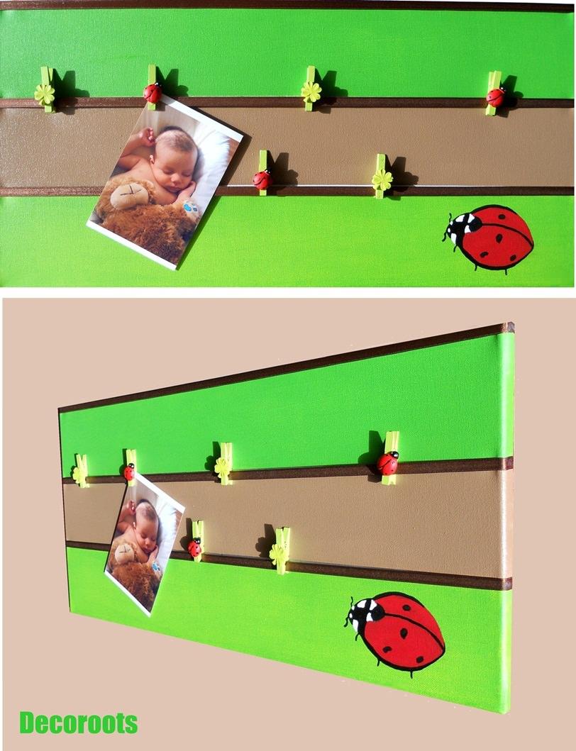 pêle mêle photo enfant bébé nature coccinelles trèfle vert anis vert forêt marron chocolat 3