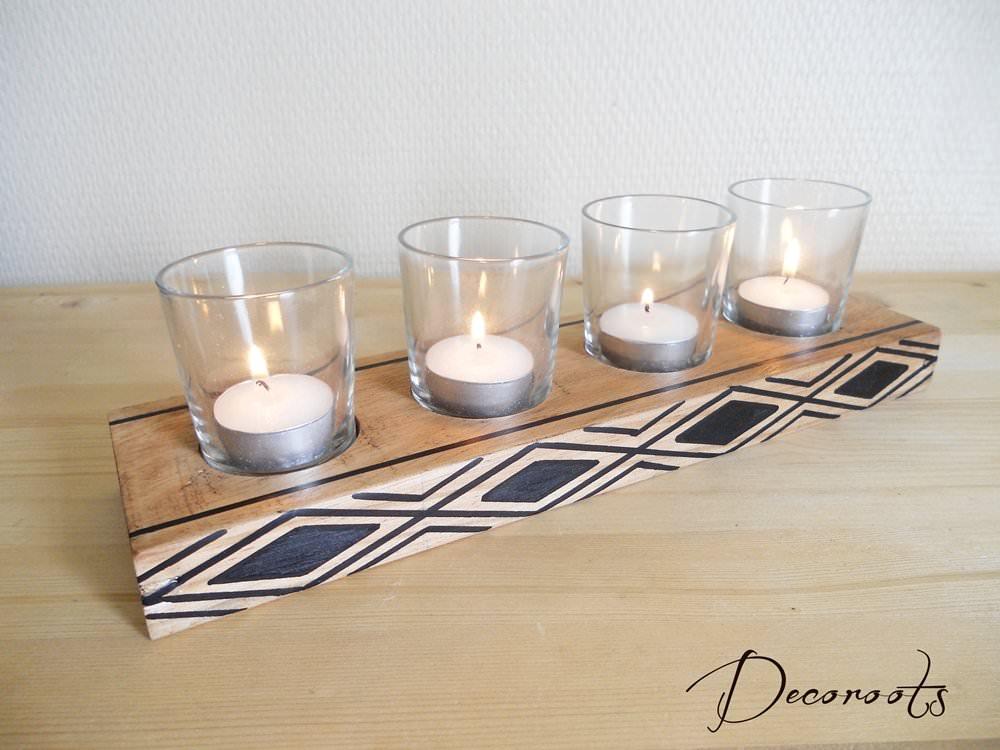 bougeoir en bois ethnique afrique ethnique nature et zen luminaire et objet d coratif nature. Black Bedroom Furniture Sets. Home Design Ideas