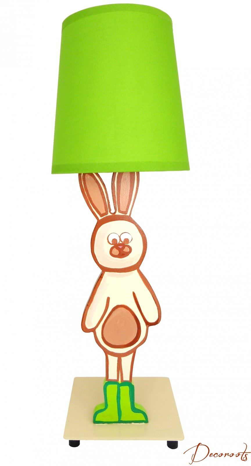 Lampe de chevet enfant b b lapin nature for t beige vert for Lampe de chevet lapin