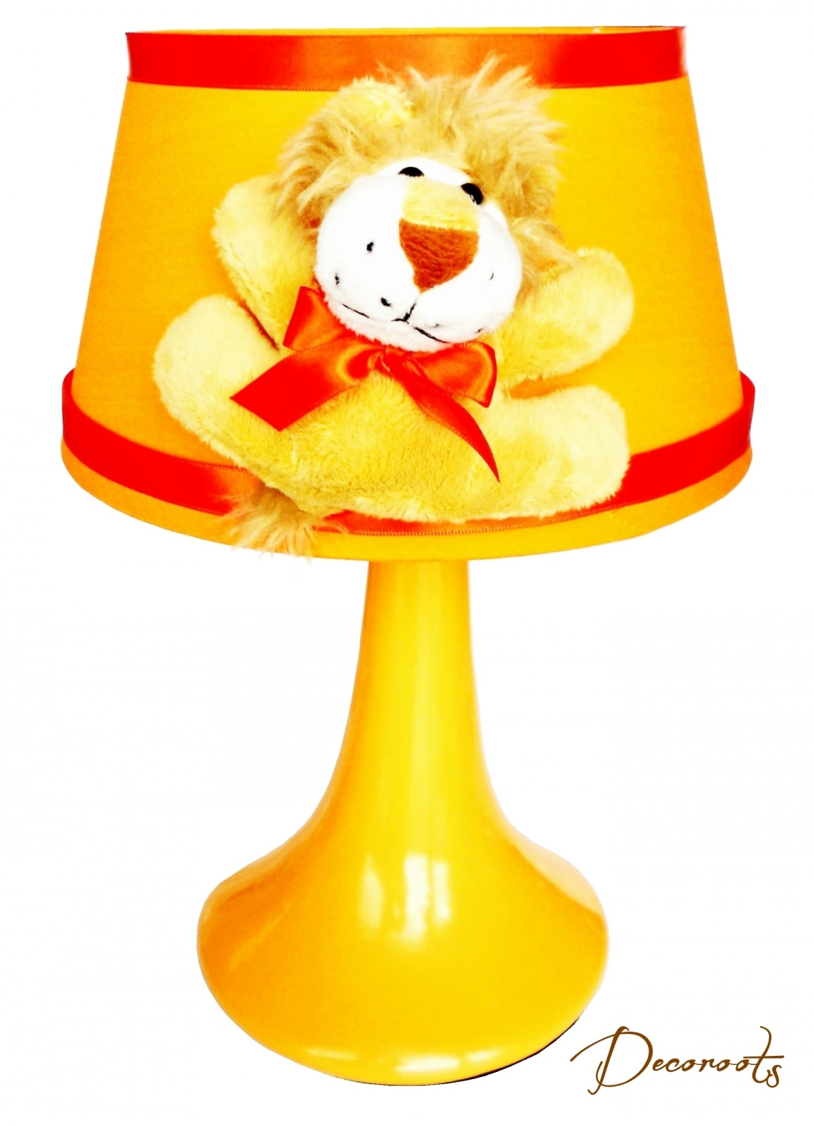lampe de chevet enfant b b jungle lion orange enfant. Black Bedroom Furniture Sets. Home Design Ideas