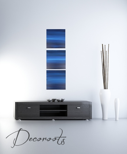 Tableau art contemporain horizon abstrait deep purple for Tableau art contemporain design decoration