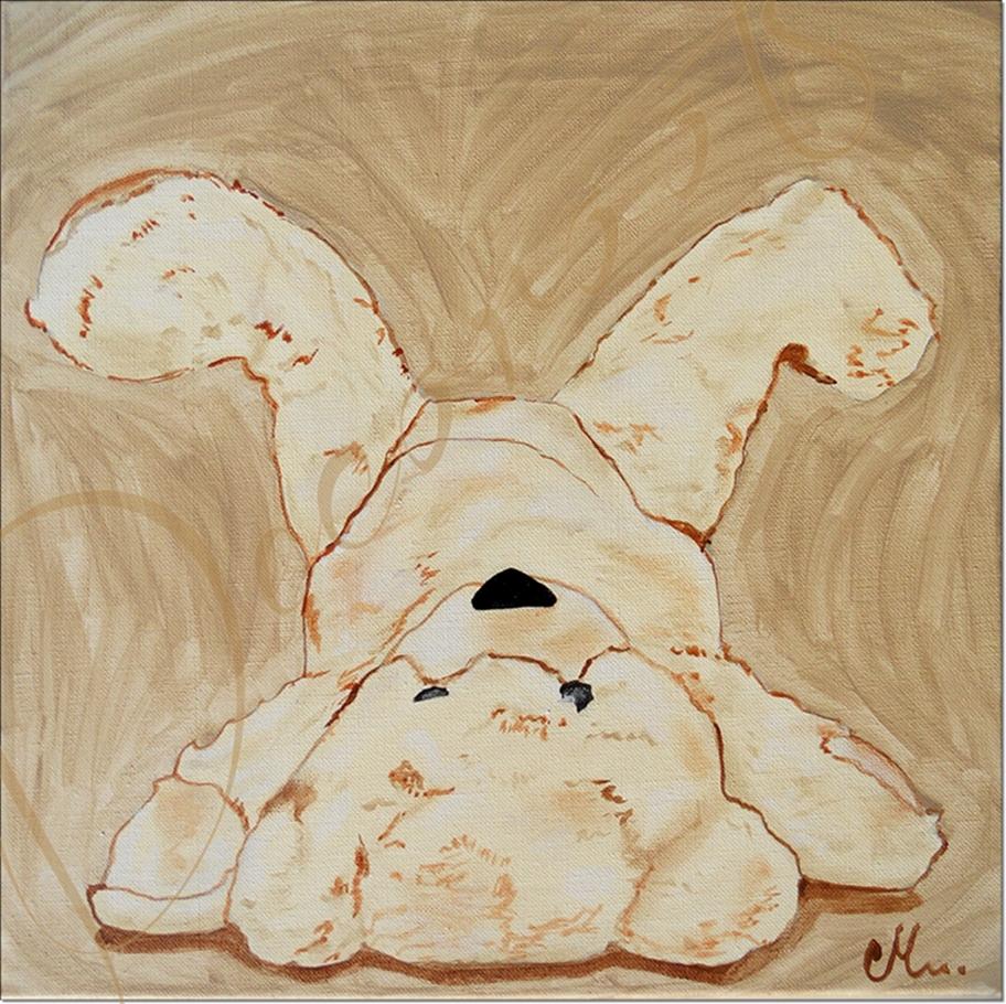 tableau enfant bébé ours peluche beige taupe marron mixte fille garçon AF2