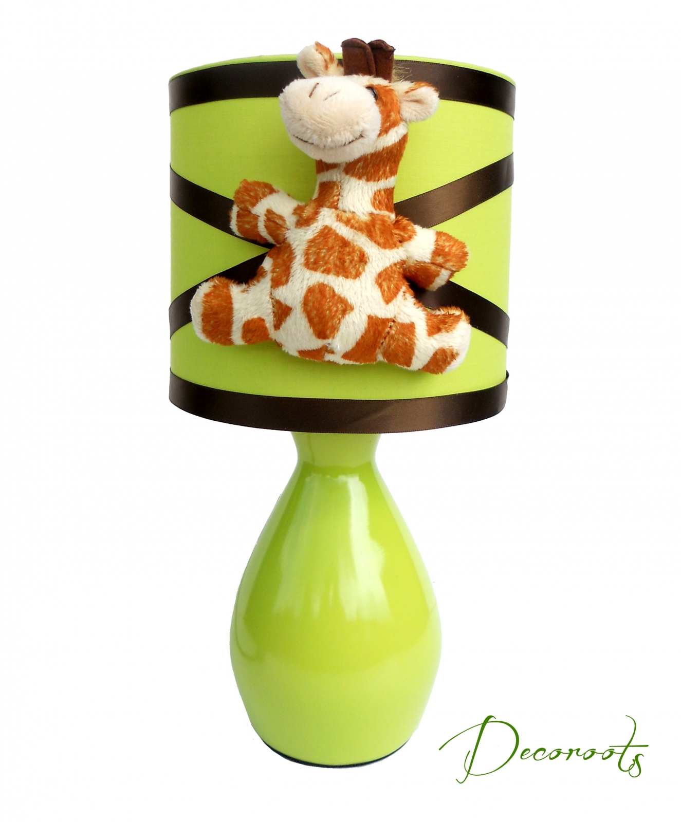 lampe de chevet enfant b b girafe vert anis enfant b b luminaire enfant b b decoroots. Black Bedroom Furniture Sets. Home Design Ideas