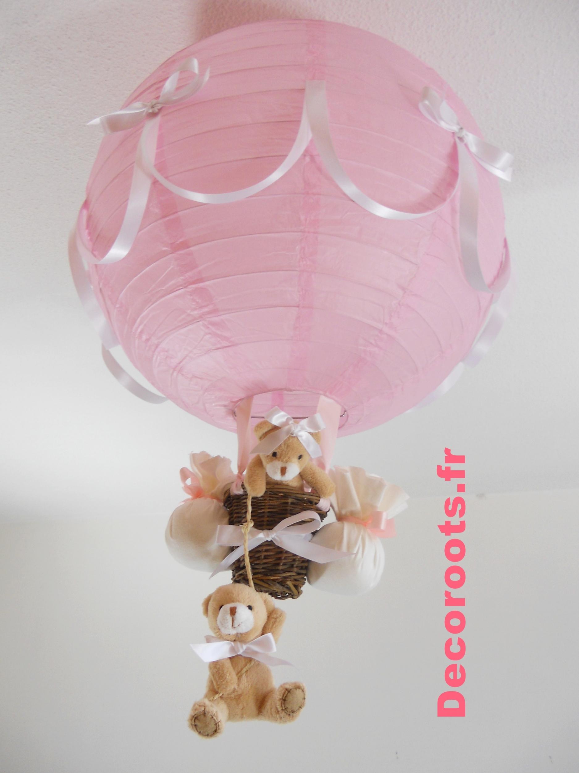 lampe montgolfière rose