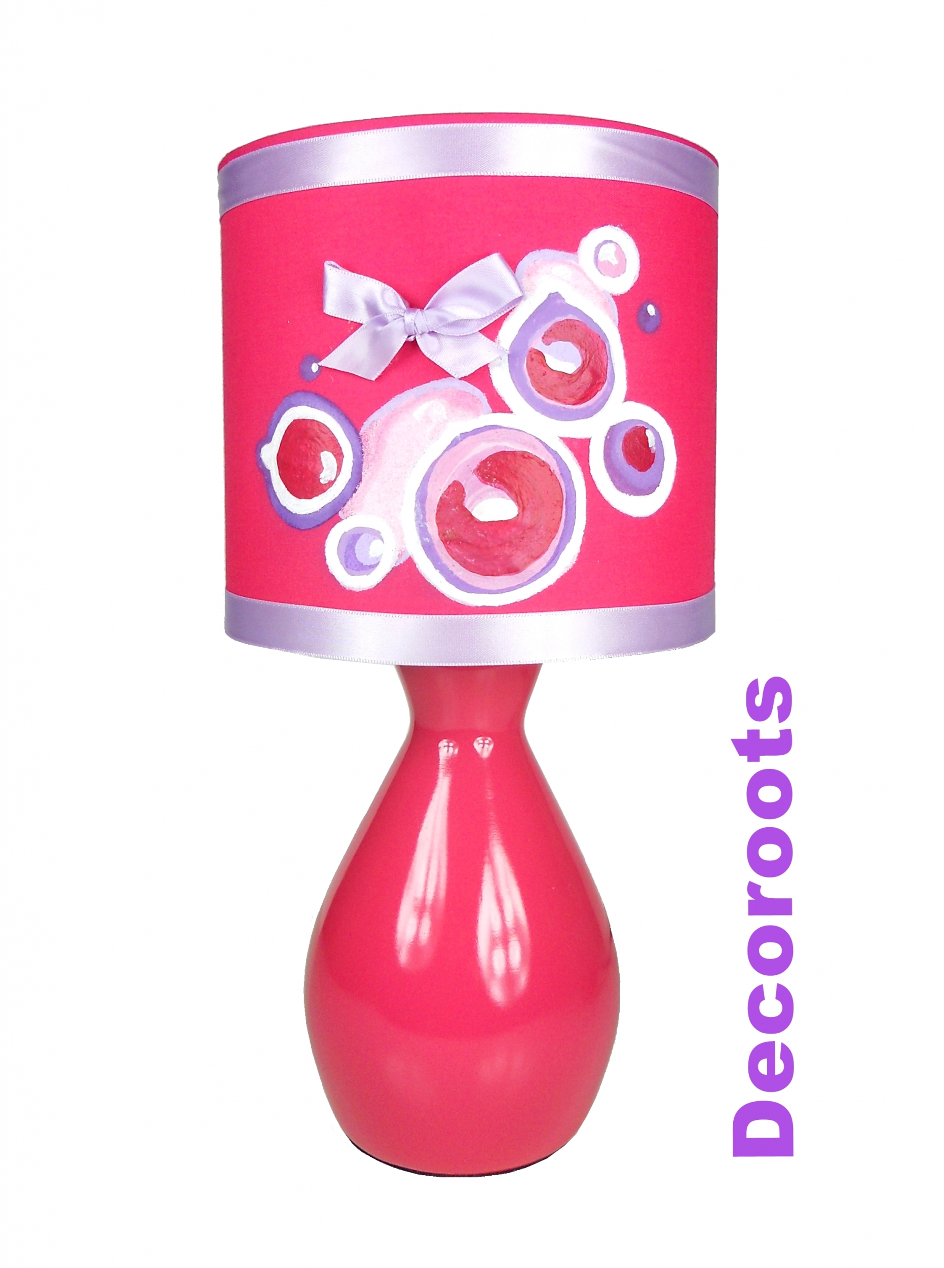 Lampe b b enfant fille collection bubble rose d coration chambre enfant b - Lampe de chevet violet ...