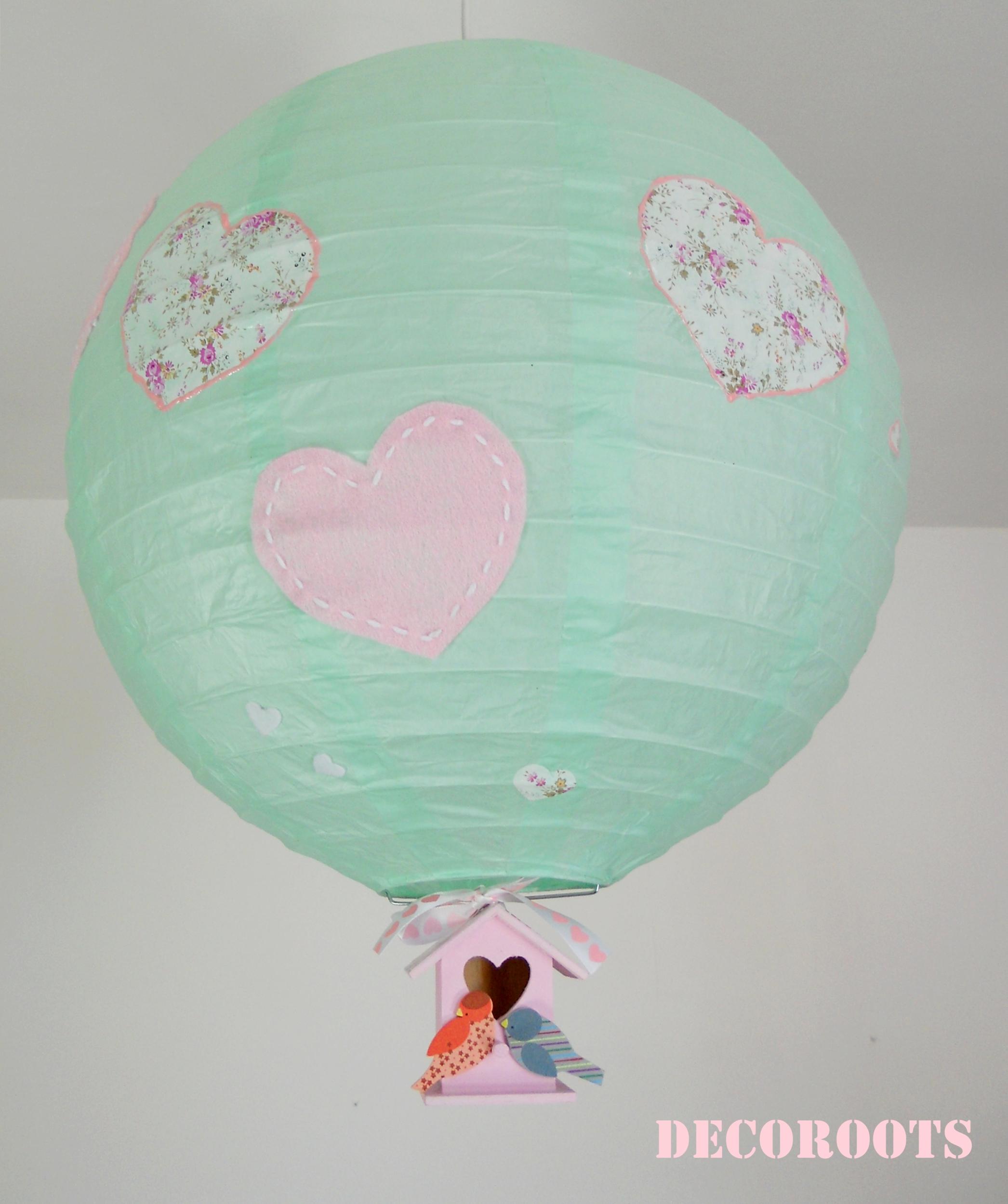 lustre oiseau et coeur enfant b b luminaire enfant b b decoroots. Black Bedroom Furniture Sets. Home Design Ideas