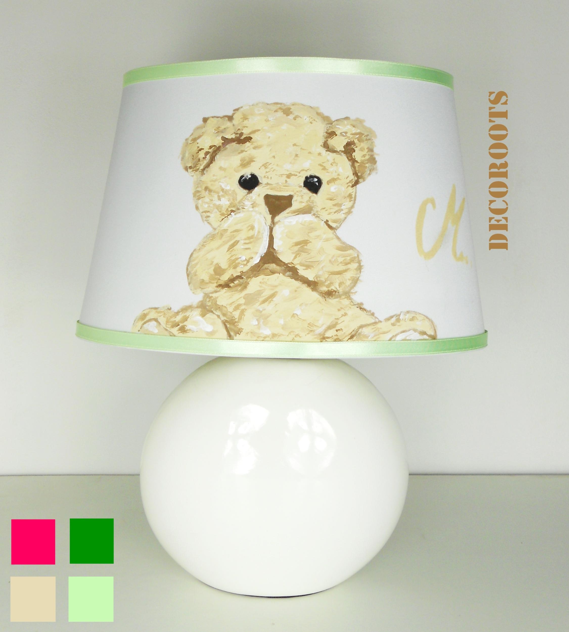 lampe de chevet enfant b b ours beige enfant b b luminaire enfant b b decoroots. Black Bedroom Furniture Sets. Home Design Ideas