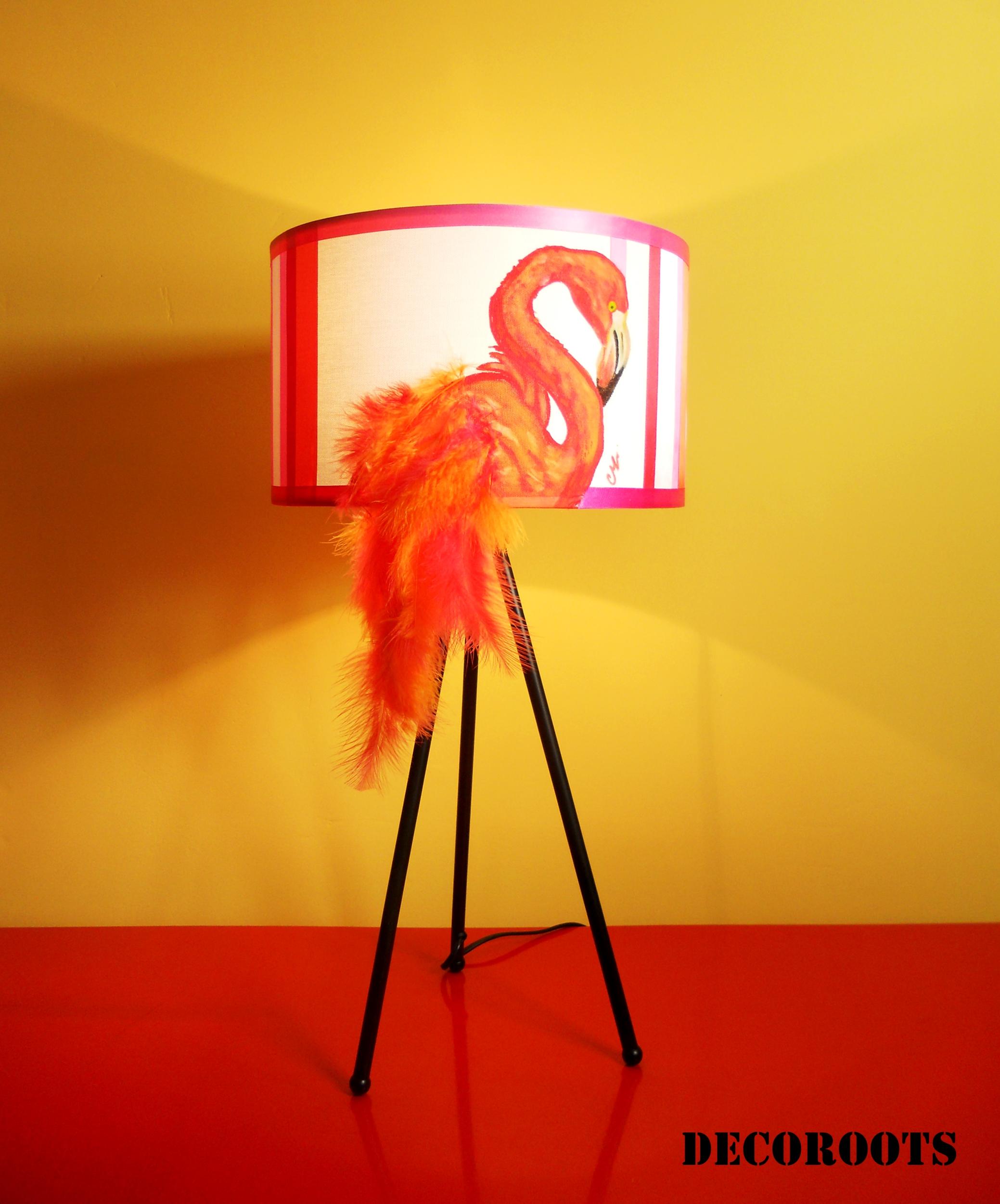 lampe design flamant rose art design contemporain luminaire et objet design decoroots. Black Bedroom Furniture Sets. Home Design Ideas