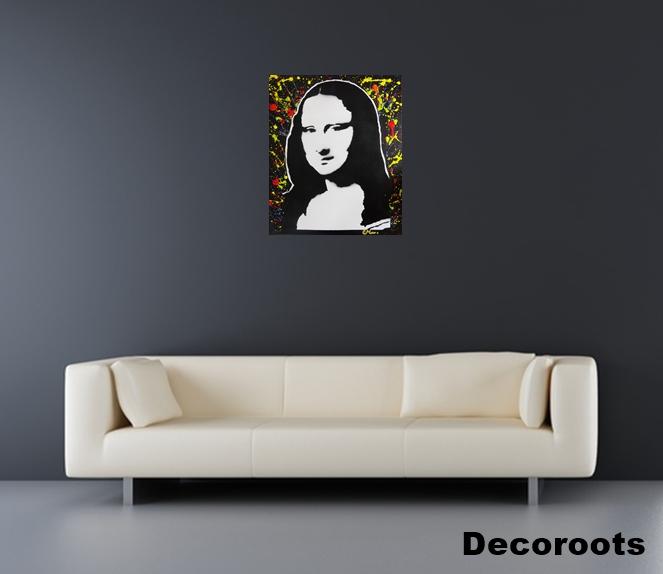 Tableau design pop la joconde grand format art design contemporain tableau - Tableau grand format design ...