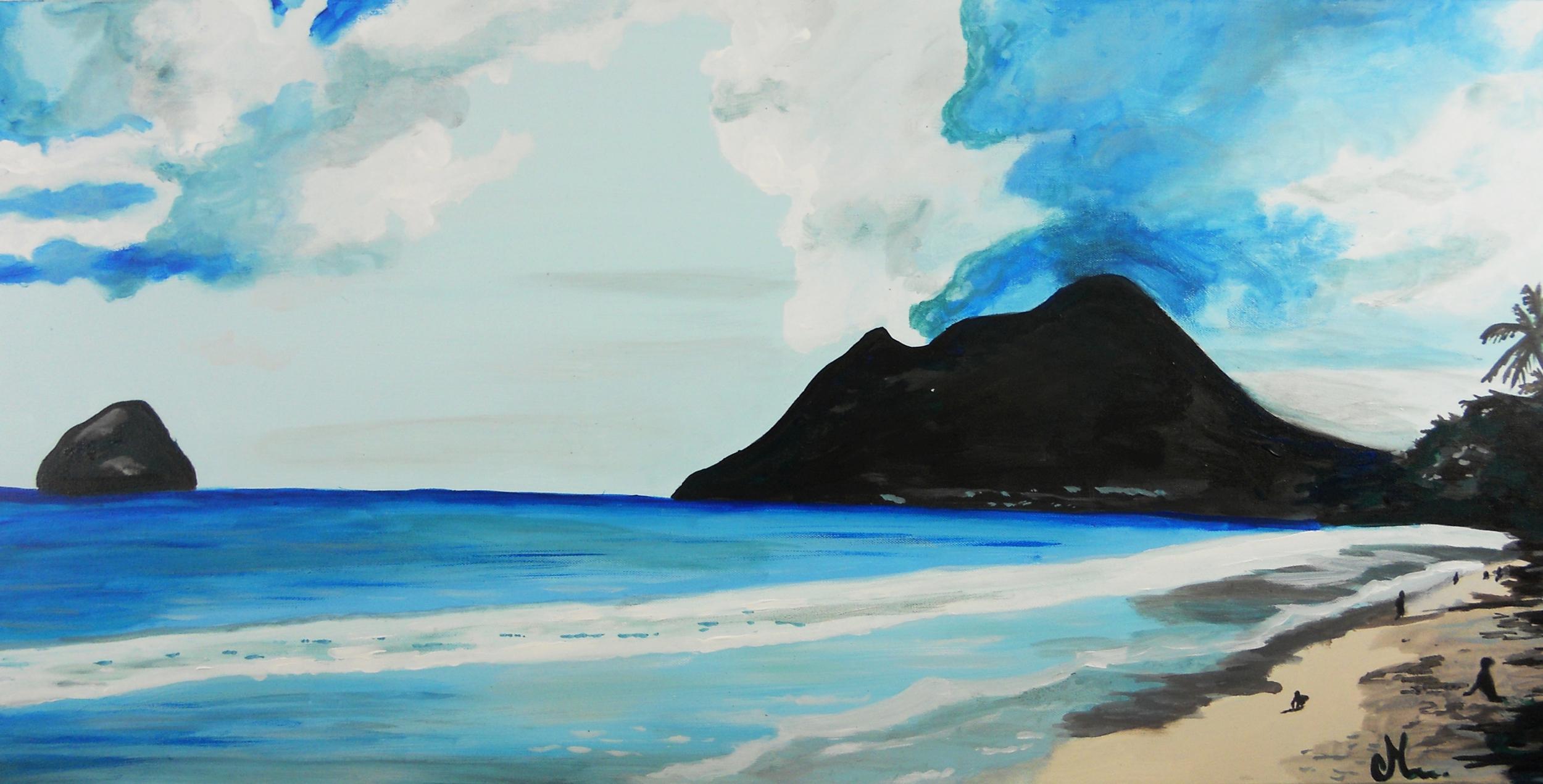 Tableau plage mer madinina nature et zen tableau ethnique nature et zen decoroots - Tableaux mer et plage ...