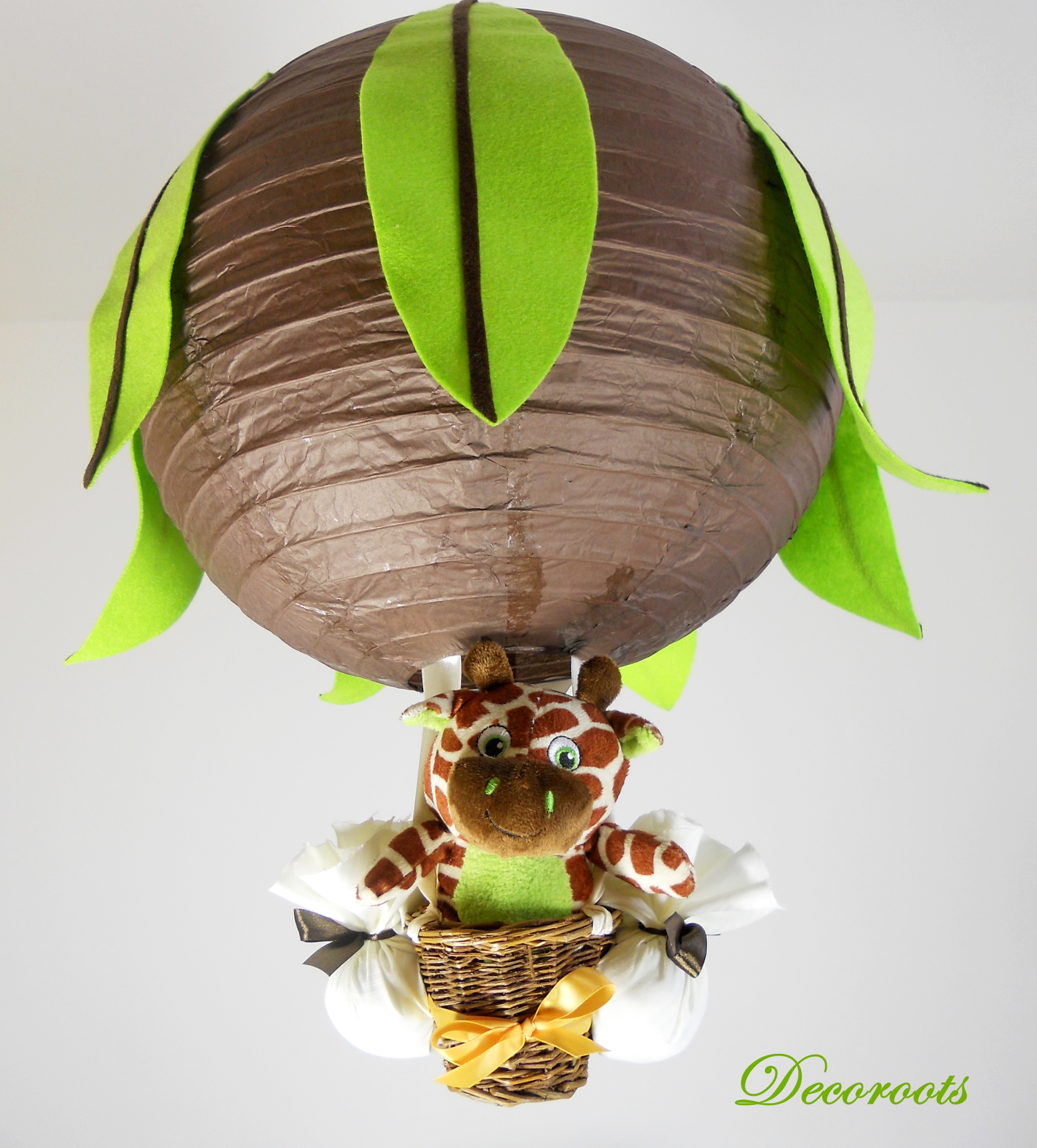 Lampe montgofi re girafe jungle marron chocolat vert anis enfant b b lumi - Lampe de chevet chocolat ...