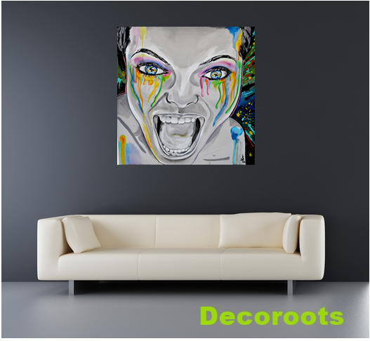 tableau art contemporain monster art design contemporain tableau art design abstrait et. Black Bedroom Furniture Sets. Home Design Ideas