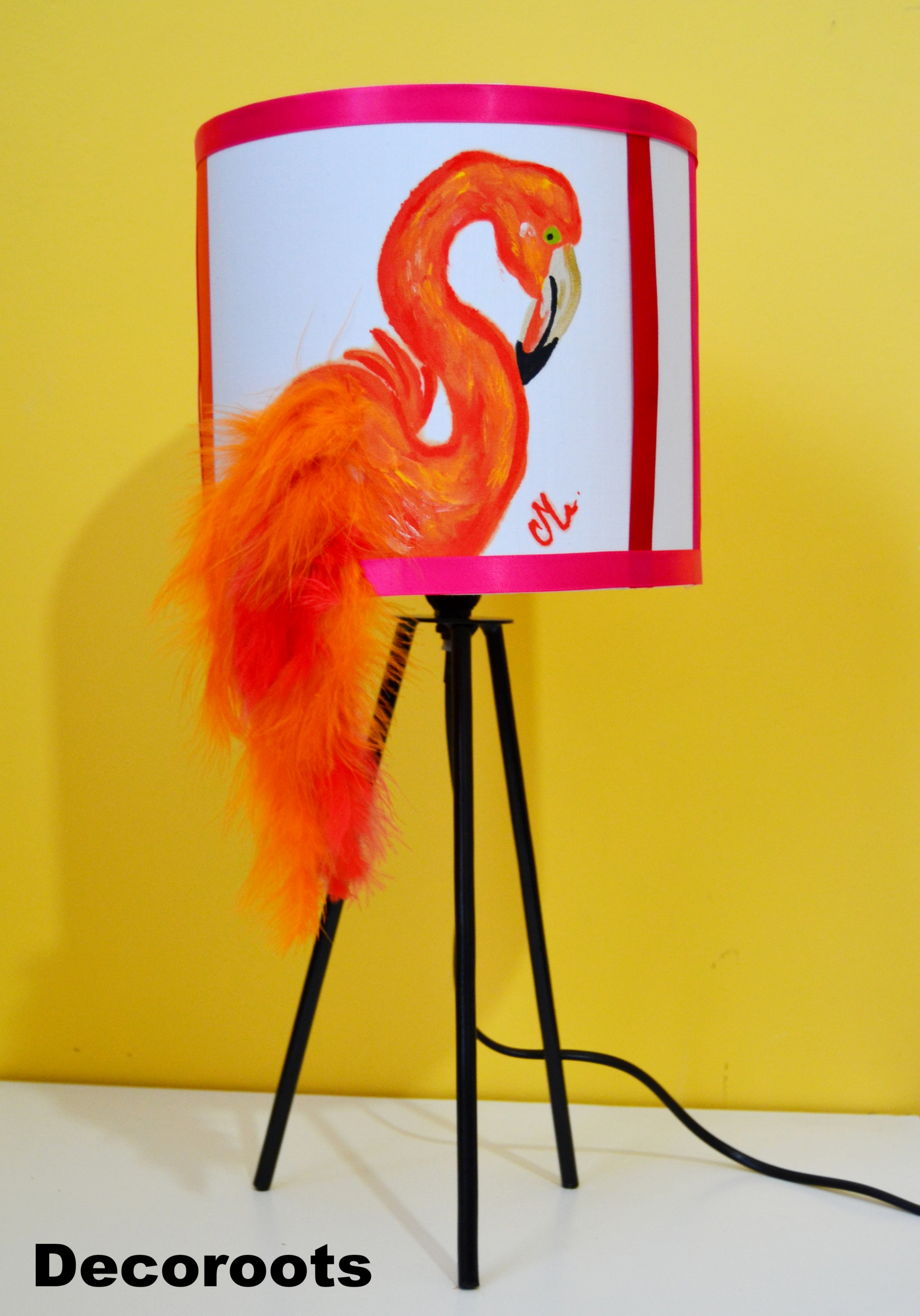 lampe design flamant rose