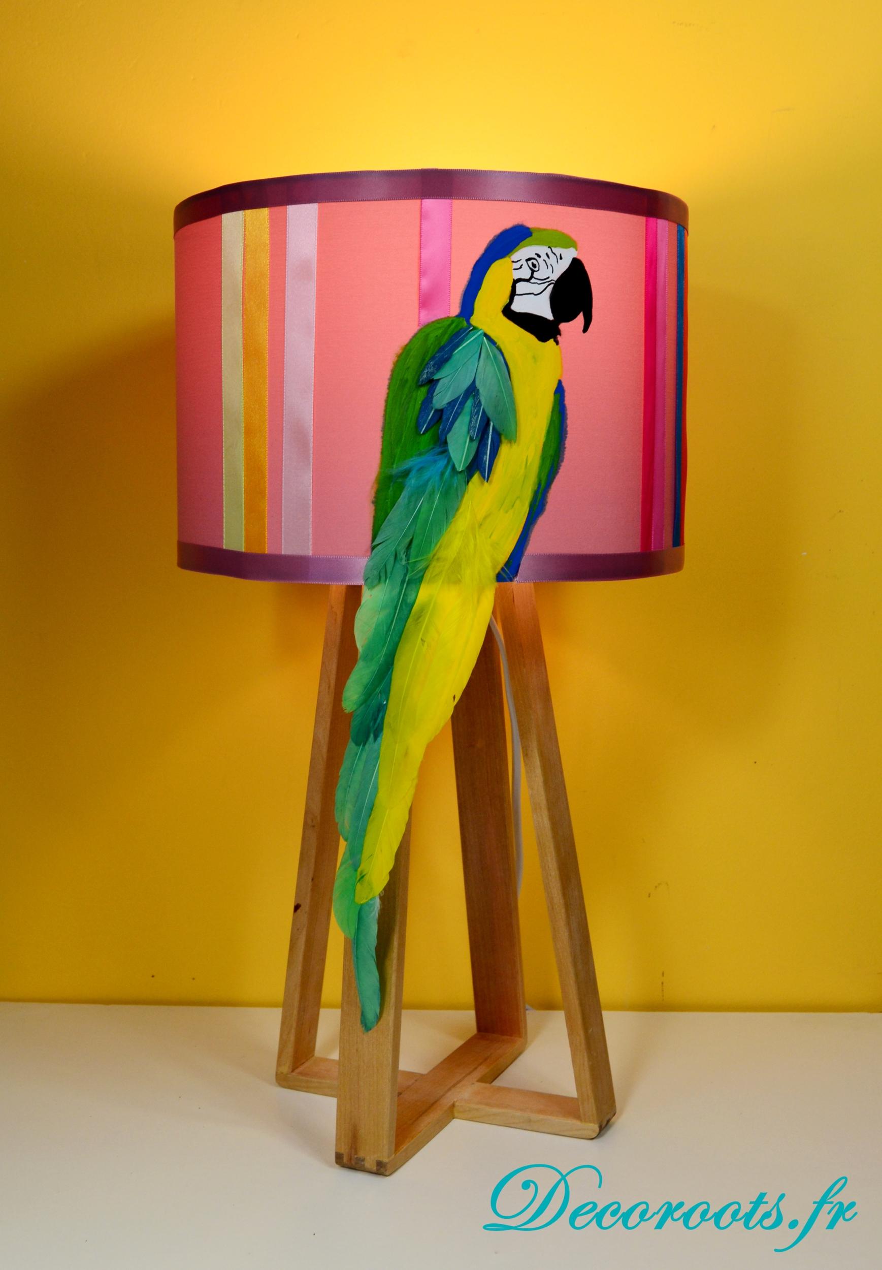 Lampe design perroquet  Art design contemporain