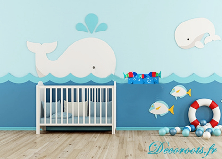porte manteau poisson th me mer existe en bleu et gris enfant b b objet d coratif enfant. Black Bedroom Furniture Sets. Home Design Ideas
