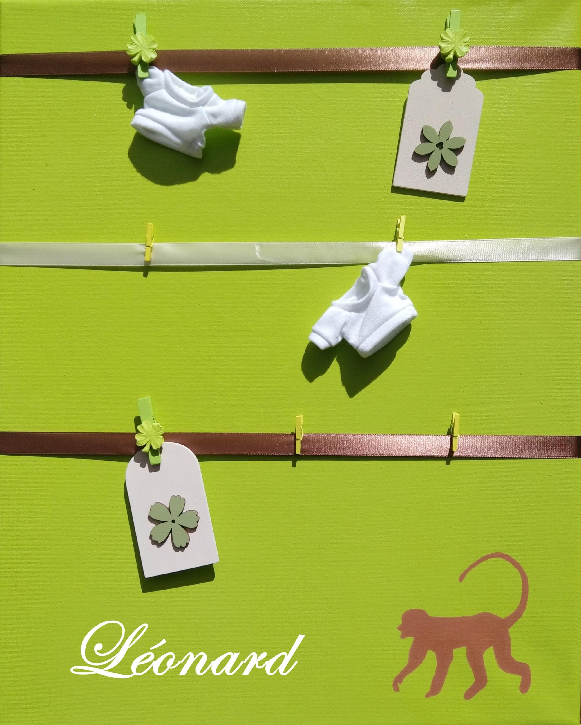 pele mele enfant bébé jungle vert anis chocolat beige singe