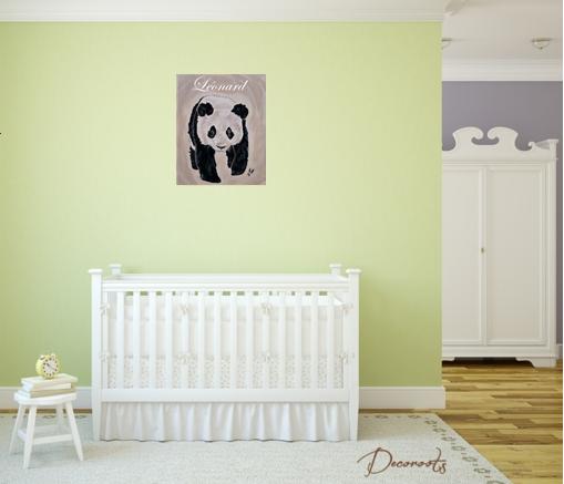 tableau enfant b b panda enfant b b tableau enfant b b decoroots. Black Bedroom Furniture Sets. Home Design Ideas