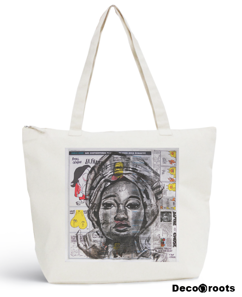 sac plage art artiste roots africa decoroots 100 coton