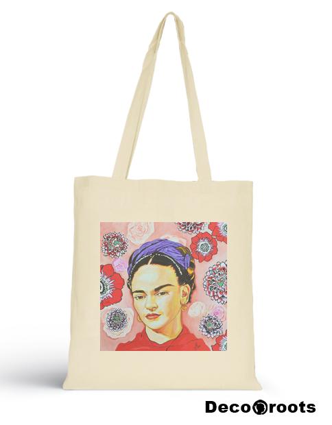 sac art tote bag frida kahlo decoroots