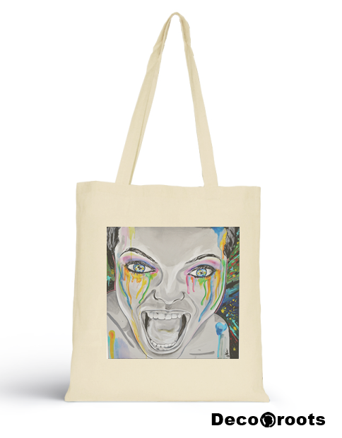 tote bag ecru monster decoroots