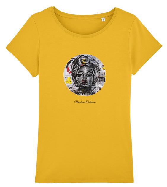tee shirt roots africa jaune