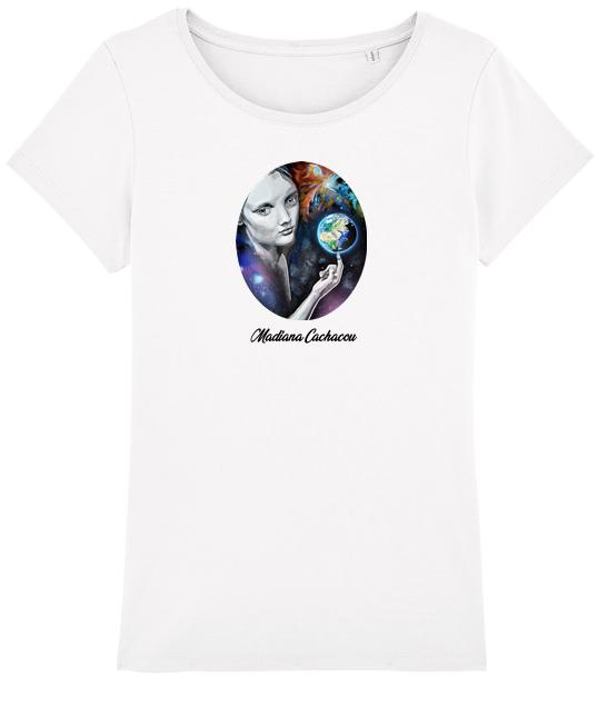 tee shirt femme blanc l'équilibre art