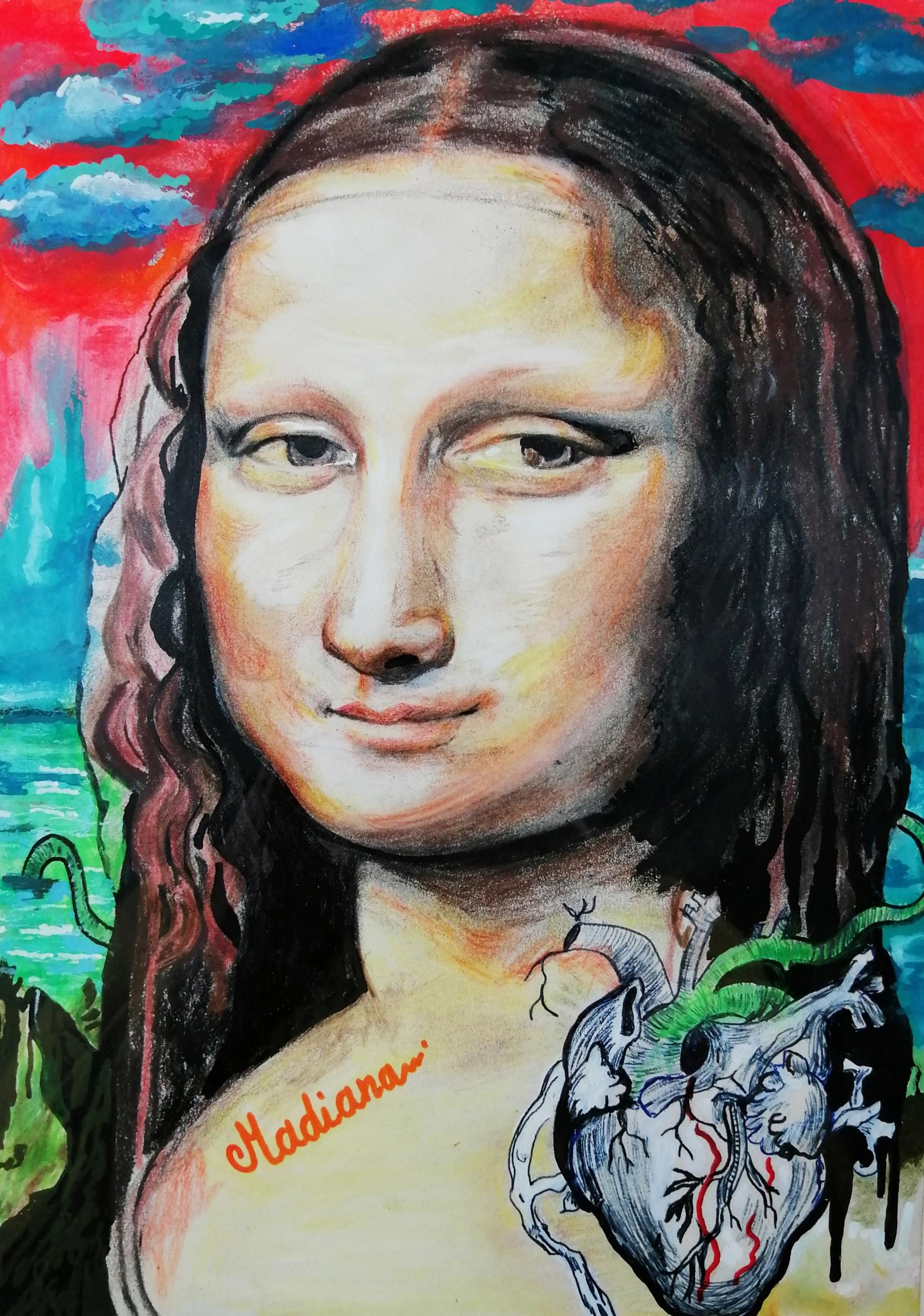 affiche poster art la joconde contemporain art artiste