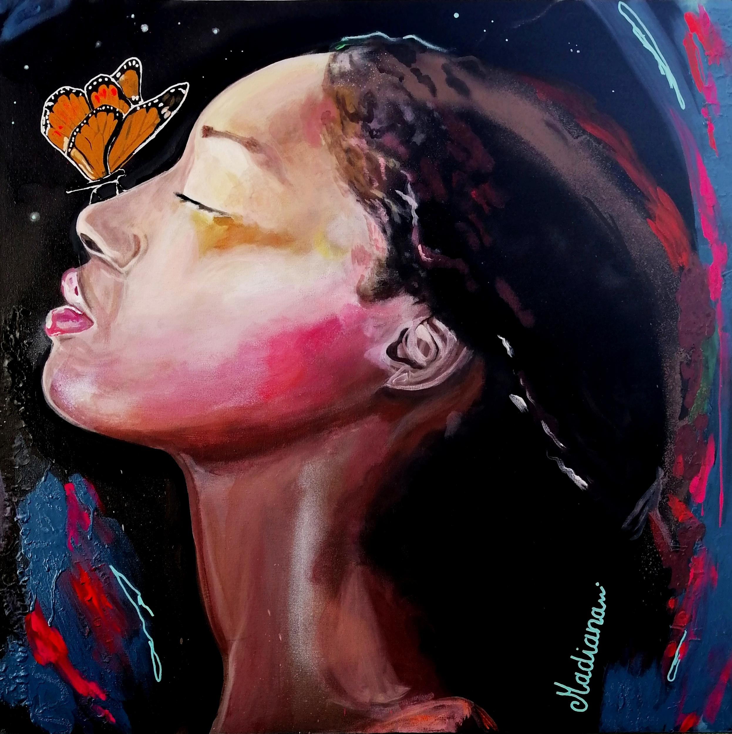 tableau art contemporain l'effet papillon 2