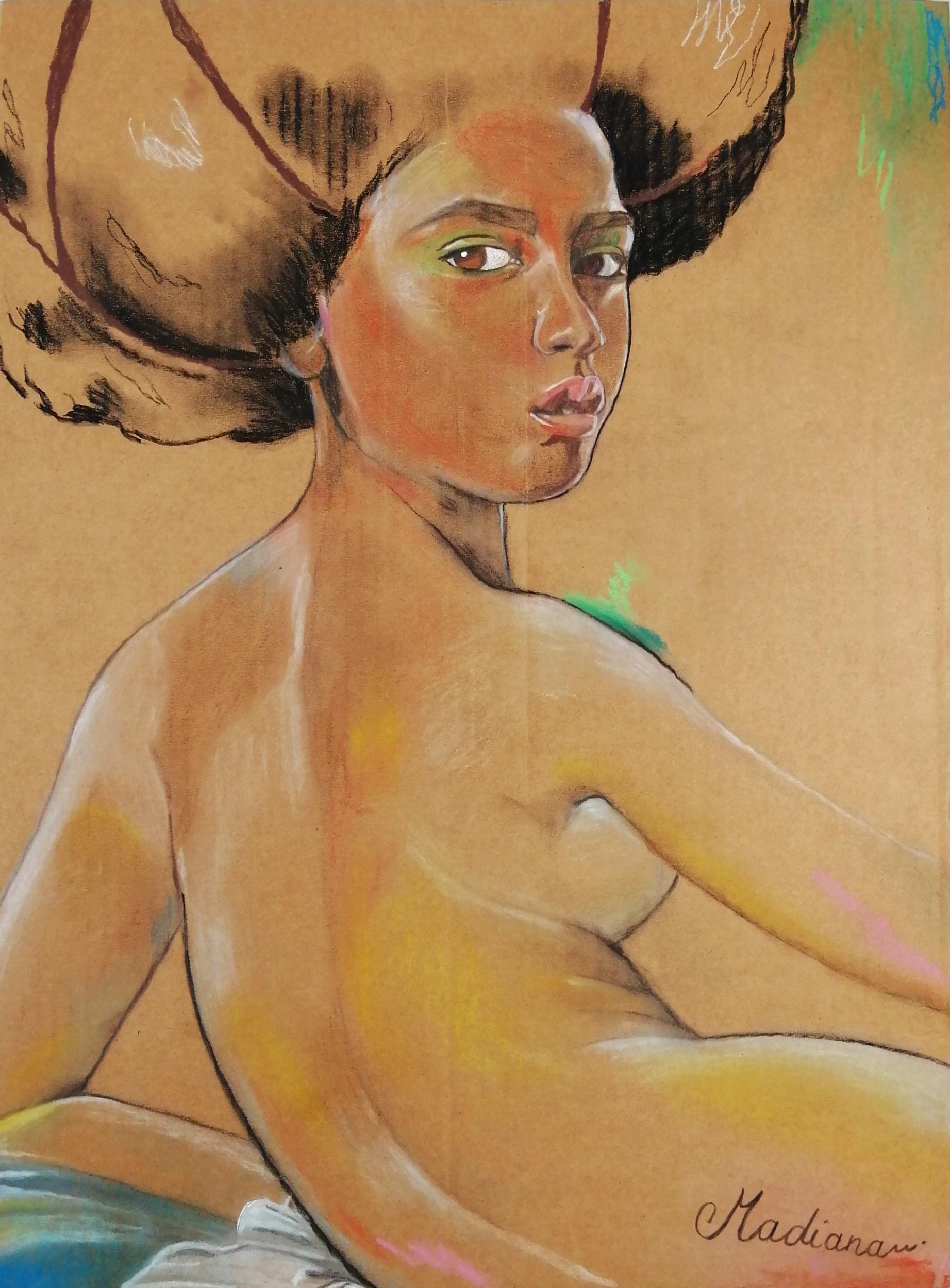 Reproduction sur toile art femme africaine afrique nue pop