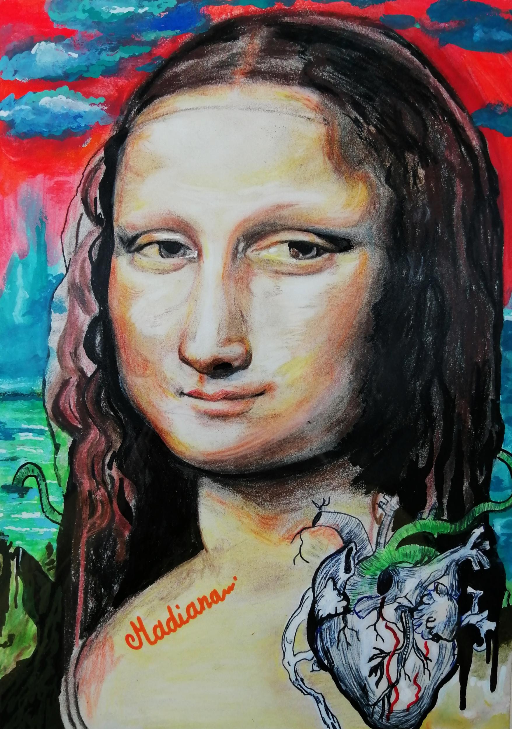 reproduction sur toile la joconde contemporain art artiste