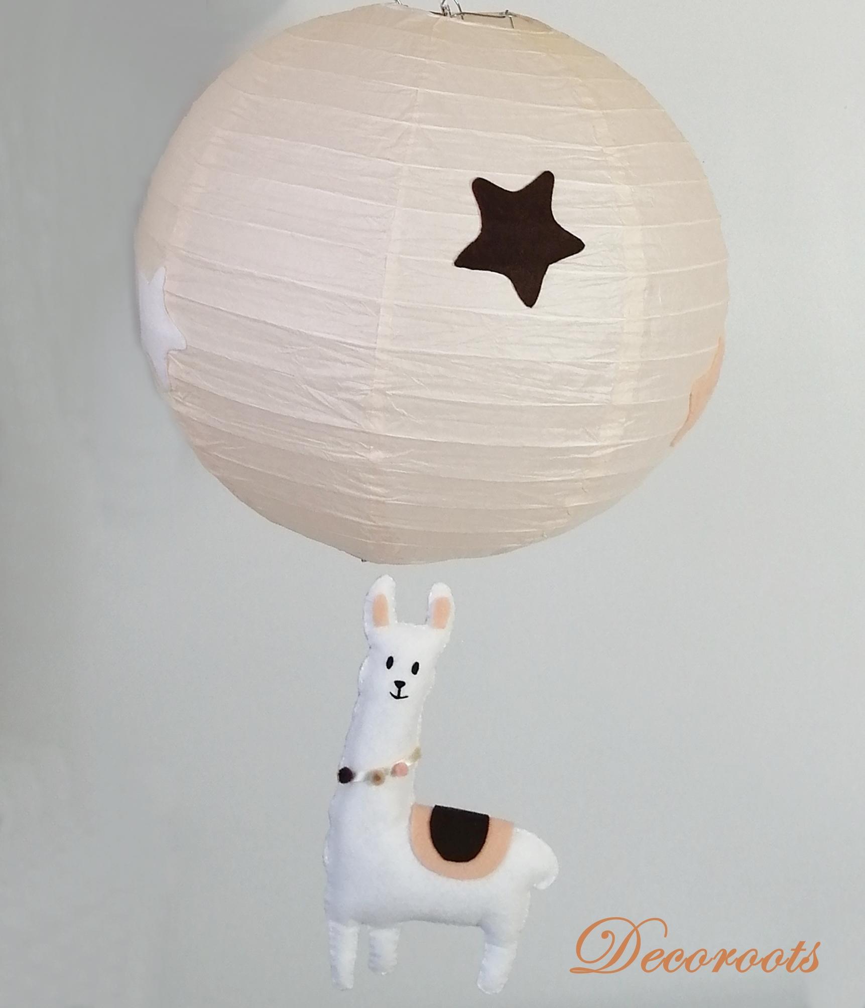 lampe enfant bébé lama mixte beige marron chocolat blanc