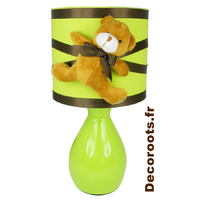 Enfant b b th me ours et oursonne decoroots - Lampe de chevet chocolat ...