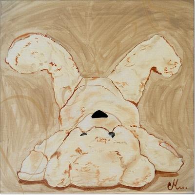 Tableau déco Noé l'ours en peluche personnalisable