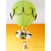 lampe montgolfière enfant bébé girafe thème jungle safari abat jour lustre lampe luminaire vert anis marron chocolat 2