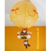 lampe montgolfière bébé jungle singe orange jaune