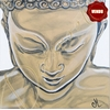 tableau-zen-ethnique-bouddha-blanc-marron-taupe-moderne
