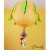 lampe lustre abat-jour enfant bébé jungle perroquet orange vert