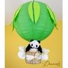 lampe montgolfière lustre enfant bébé panda vert anis bambou