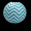 boule-chevron-turquoise-35cm