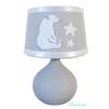 lampe chevet enfant bébé ours polaire gris blanc étoile 2