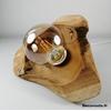 lampe design nature teck zen bois fleur blanche